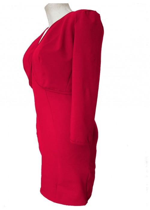 Zweiteiler - roter Zweiteiler aus Kurzjacke und Cocktailkleid Baumwolle Stretch Größen 34 - 52 Deutsche Einzelfertigung