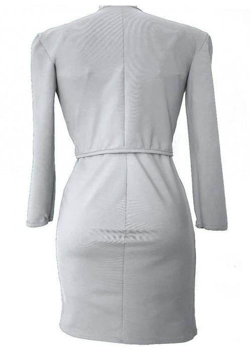 Zweiteiler - Weiße Kurzjacke und Cocktailkleid Baumwolle Stretch -