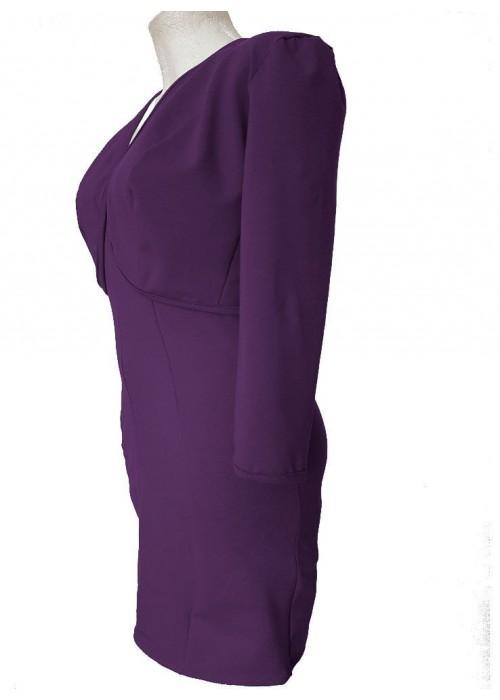 Zweiteiler - Violet Kurzjacke und Cocktailkleid Baumwolle Stretch -