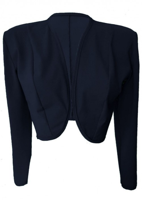 Kurzjacken - Größe 34 - 52 Blaue Baumwoll-Stretch-Kurzjacke aus Magdeburger Produktion -