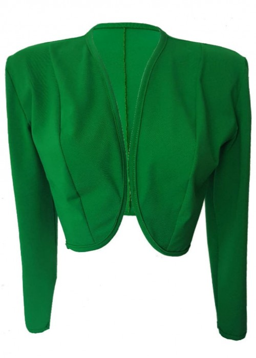 Kurzjacken - Größen 34 - 52 Grüne Baumwoll-Stretch-Kurzjacke aus Magdeburger Produktion -
