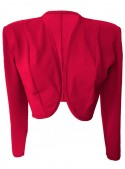 Rote Baumwoll-Stretch-Kurzjacke