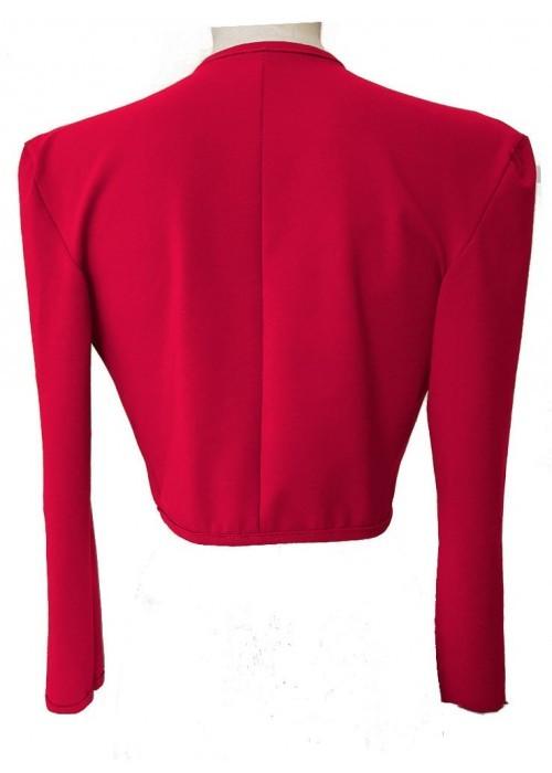 Kurzjacken - Größen 34 - 52 Rote Baumwoll-Stretch-Kurzjacke aus Magdeburger Produktion -