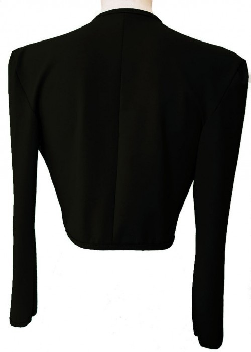 Kurzjacken - Größen 34 - 52 Schwarze Baumwoll-Stretch-Kurzjacke aus Magdeburger Produktion -