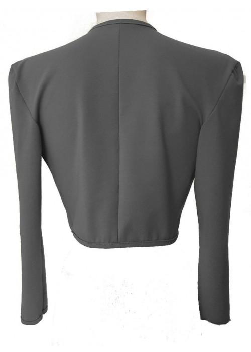 Kurzjacken - Größe 34 - 52 Baumwoll-Stretch-Kurzjacke grau Magdeburger Produktion Einzelfertigung -