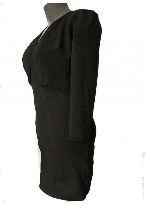 Zweiteiler - Schwarze Kurzjacke und Cocktailkleid Baumwolle Stretch -
