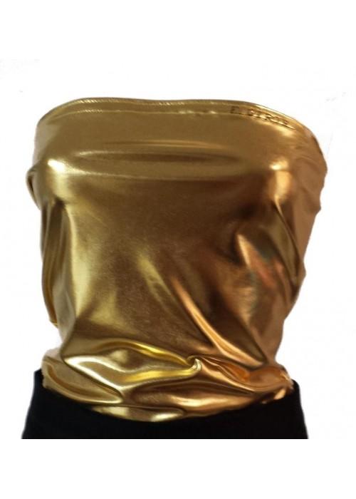 goldenes Bandeau Top elastisch deutsche Produktion F.Girth